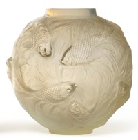 a formose globular vase by rené lalique
