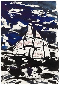 untitled (set sail: there's the new cathedral) by raymond pettibon
