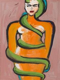 ohne titel (schlangenfrau) 1995 by elvira bach
