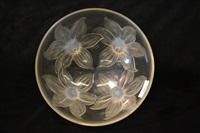 a lys glass bowl by rené lalique