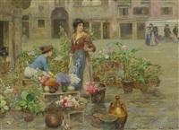 venezianische blumenverkäuferinnen by cesare vianello