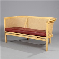 king's furniture range two-seater sofa (model 143) by rud thygesen