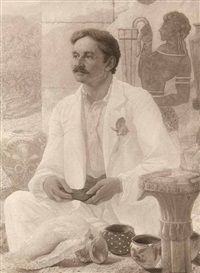 portrait des arthur j. evans (after the 1907 painting by sir william richmond) by frederick hollyer