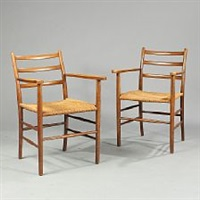 armchairs (pair) by arne jacobsen