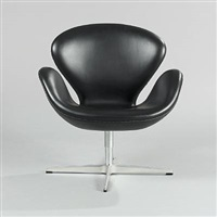 the swan lounge chair (model 3320) by arne jacobsen