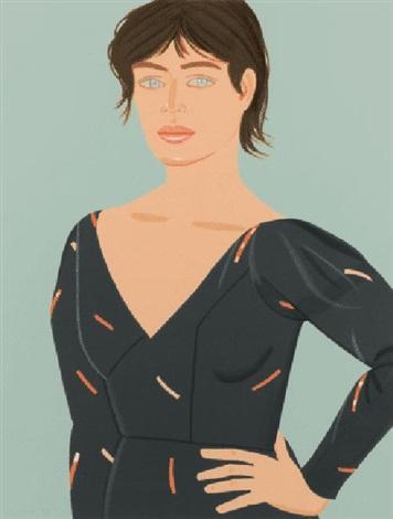grey dress (laura) by alex katz