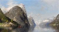 frühsommerlicher fjord by georg anton rasmussen