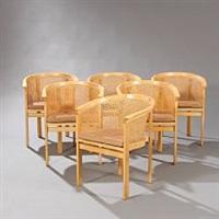 kongeserien armchairs (set of 6) by rud thygesen and johnny sorensen