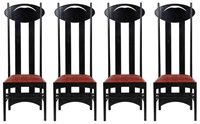 série de quatre chaises, modèle argyle (set of 4) by charles rennie mackintosh