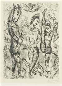 le pierrot by marc chagall