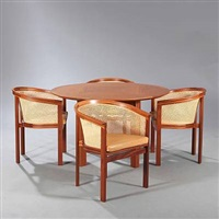 kongeserie dining room suite (set of 5) by rud thygesen and johnny sorensen