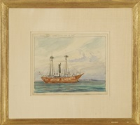 hedge fence, light vessel aug 13, 1910 by reynolds beal