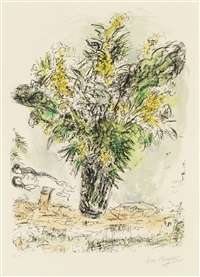 les mimosas by marc chagall