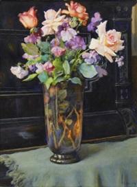 floral still-life by vassilij filippovich levi