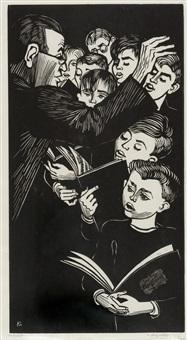 knabenchor (halle/s.) (+ another; 2 works) by conrad felixmüller
