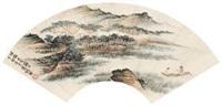 泛舟访友图 by xiao xun