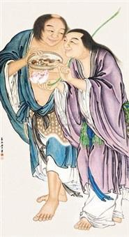 和合二仙 by xiang weiren