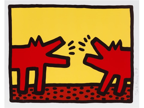 pop shop iv barking dogs by keith haring