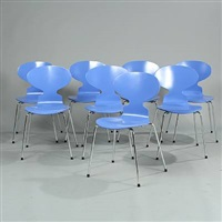 the ant chair (model 3100) (set of 8) by arne jacobsen