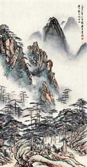 黄山散花坞烟雨 by liu haisu