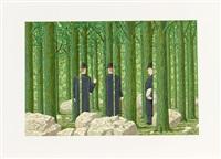 les enfants trouvés (portfolio of 12) by rené magritte