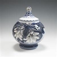 lidded vase, model #1724 by effie hegermann-lindencrone