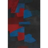 composition rouge, bleue et noire by serge poliakoff