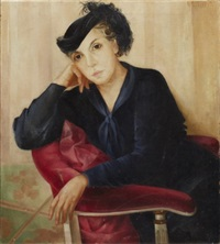 a woman seated by lydia dmitrievsky