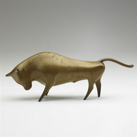 bull figurine by franz hagenauer