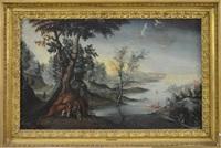 paysage fluvial animé by paul bril