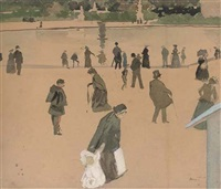 bassin des tuileries by antoine guillaume (tony) minartz