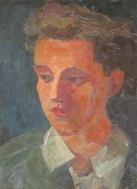 portraitkopf einer jungen frau by carl heinz krug