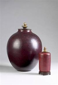 lid vase by kresten bloch and knud andersen