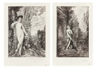 les fables de la fontaine (set of 6) by gustave moreau