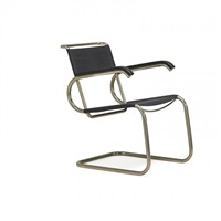 cantilevered armchair by marcel breuer