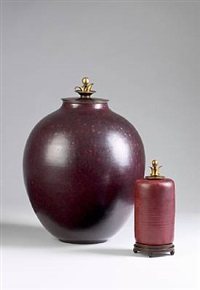 cylindrical lid jar by carl halier and knud andersen