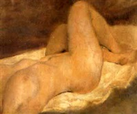 nude with crossed ankles by pierce rice