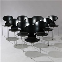 ant chair (set of 10) by arne jacobsen