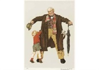 gift from grandfather by norman rockwell
