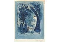 notre-dame et la tour eiffel by marc chagall
