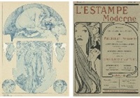 figures decoratives, pl.18 (+ 3 others; set of 4) by alphonse mucha