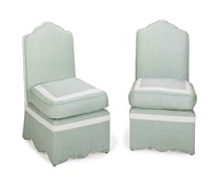 slipper chairs (pair) by jeffrey bilhuber