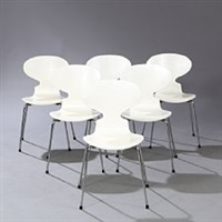 the ant chair (model 3101) (set of 6) by arne jacobsen