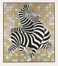 zebras by victor vasarely