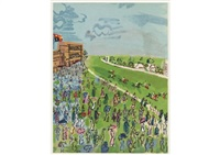 racecourse (+ 4 others; set of 5) by raoul dufy