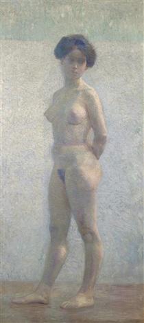 stehender weiblicher akt by hans böhler