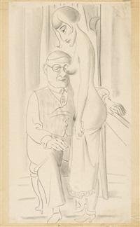 ohne titel (sitzender mann und weiblicher akt) by max ackermann