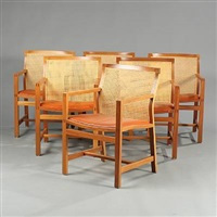 the king's furniture armchairs (set of 6) by rud thygesen and johnny sorensen