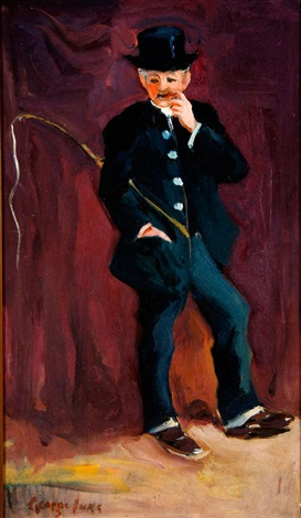 circus animal tamer with whip by george benjamin luks
