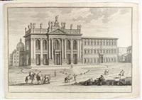 veduta e prospetto della nuova facciata della sacrosanta basilica lateranense by giuseppe vasi